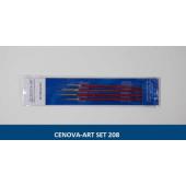 Cenova Art Set 208 Dal / Liner 4'lü Set Fırça