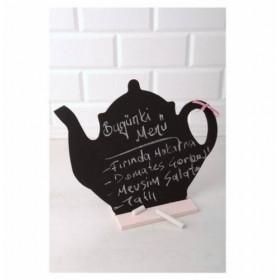Dekoratif Çaydanlık Kara Yazı Tahtası