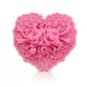 Kalp İçinde Çiçek Kalıbı